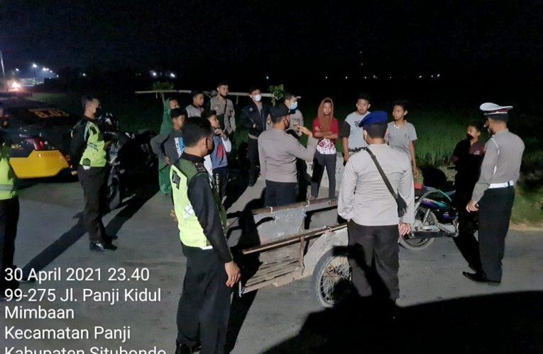 Cegah Perang Petasan dan Balap Liar, Polres Situbondo Tingkatkan Patroli Malam Menjelang Sahur